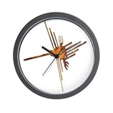 Nazca Hummingbird-rust Wall Clock