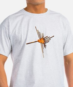 Nazca Hummingbird-rust T-Shirt