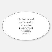 EXODUS 21:12 Oval Decal