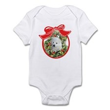 American Eskimo Christmas Infant Creeper