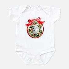American Eskimo Christmas Infant Creeper