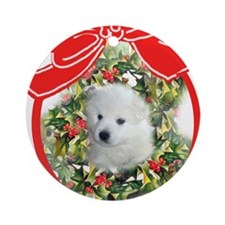 American Eskimo Christmas Ornament (Round)