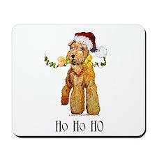 Santa Airedale Terrier Mousepad