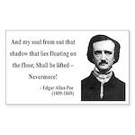 Edgar Allan Poe 12 Rectangle Sticker
