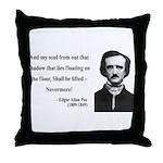 Edgar Allan Poe 12 Throw Pillow