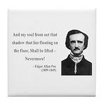 Edgar Allan Poe 12 Tile Coaster
