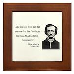 Edgar Allan Poe 12 Framed Tile