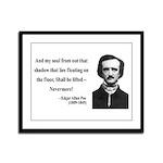 Edgar Allan Poe 12 Framed Panel Print