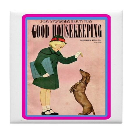 """1950 Good Housekeeping"" Tile Coaster"