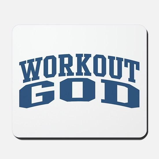 Workout God Nickname Collegiate Style Mousepad