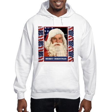 A Pro Bush Christmas Patriotic Hooded Sweatshirt