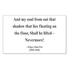 Edgar Allan Poe 12 Rectangle Decal