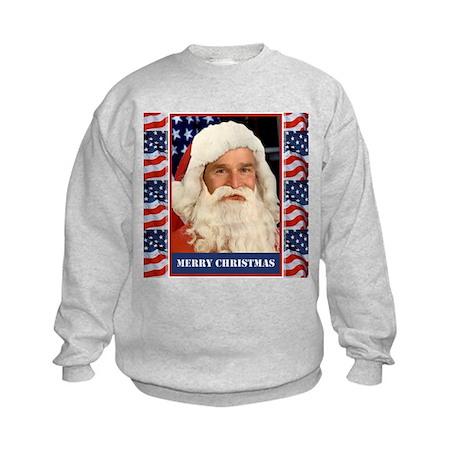 A Pro Bush Christmas Patriotic Kids Sweatshirt
