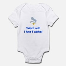 """Watch out! I have 3 wishes!"" Infant Bodysuit"