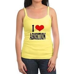 I Love Abortion Jr.Spaghetti Strap