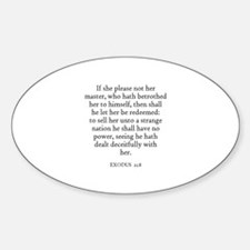 EXODUS 21:8 Oval Decal