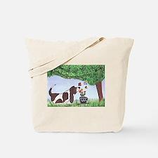 Unique Basset hound Tote Bag