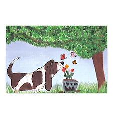 Cute Basset Postcards (Package of 8)