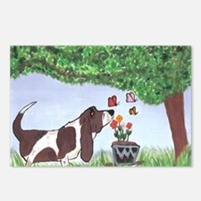 Funny Basset Postcards (Package of 8)