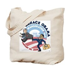 Cute Barack obama inauguration day Tote Bag