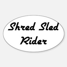 Shred Sled Oval Decal