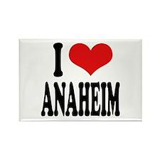 I Love Anaheim Rectangle Magnet