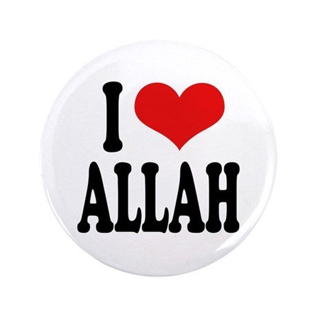 """I Love Allah 3.5"""" Button (100 pack)"""