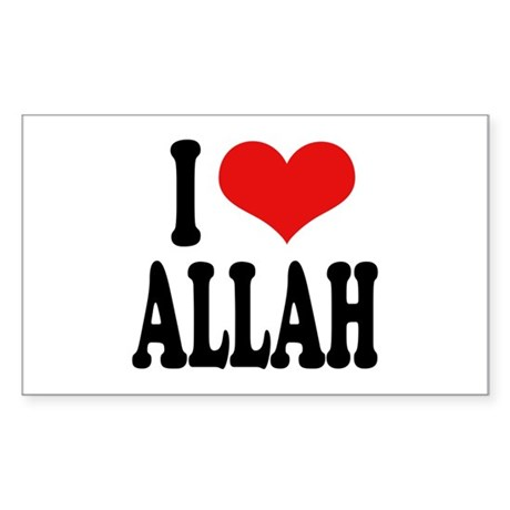 I Love Allah Rectangle Sticker