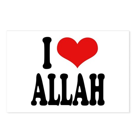 I Love Allah Postcards (Package of 8)