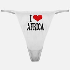 I Love Africa Classic Thong