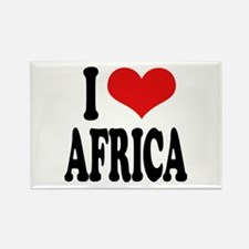 I Love Africa Rectangle Magnet