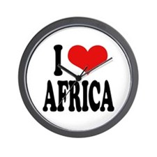 I Love Africa Wall Clock