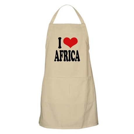 I Love Africa BBQ Apron