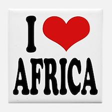 I Love Africa Tile Coaster