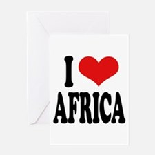I Love Africa Greeting Card