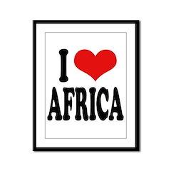 I Love Africa Framed Panel Print