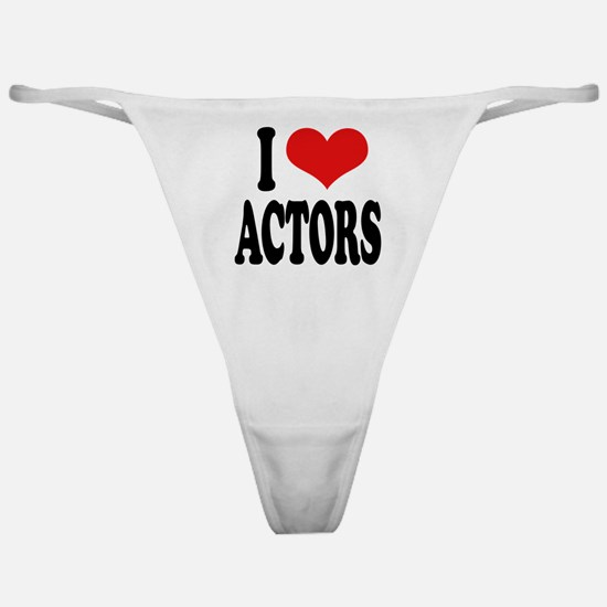 I Love Actors Classic Thong