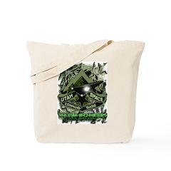 USCB Green Reptile Camo Tote Bag