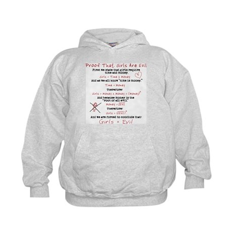 Girls Are Evil Anti Love Kids Hoodie