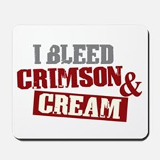 Bleed Crimson Cream Mousepad
