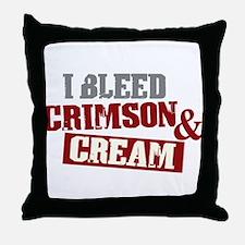 Bleed Crimson Cream Throw Pillow