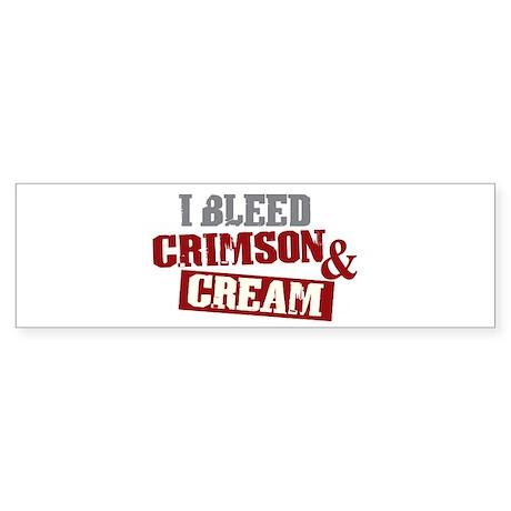 Bleed Crimson Cream Bumper Sticker