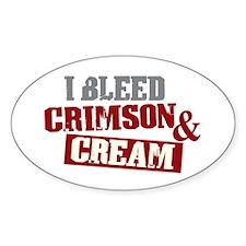 Bleed Crimson Cream Oval Decal