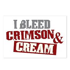 Bleed Crimson Cream Postcards (Package of 8)