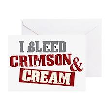 Bleed Crimson Cream Greeting Cards (Pk of 10)