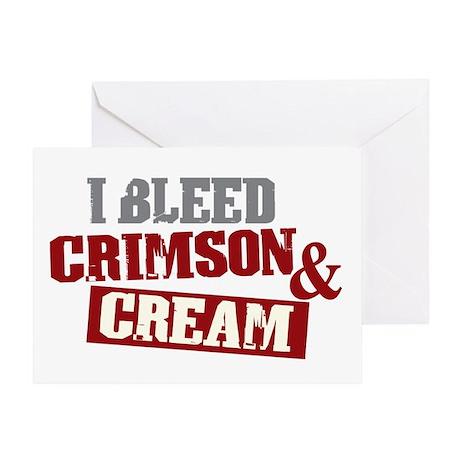 Bleed Crimson Cream Greeting Card