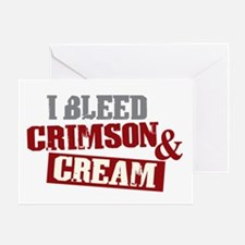 Bleed Crimson Cream Greeting Card