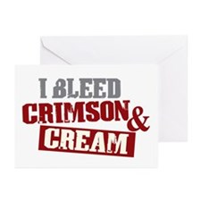 Bleed Crimson Cream Greeting Cards (Pk of 20)