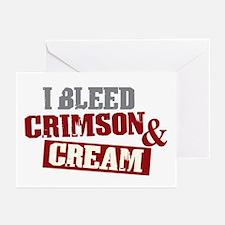 Bleed Crimson Cream Greeting Cards (Pk of 20)