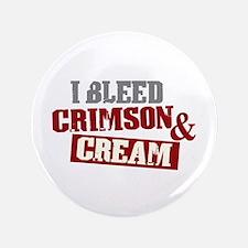"""Bleed Crimson Cream 3.5"""" Button"""